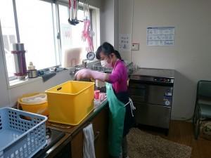 洗い物のお仕事